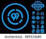 geo diagram icon with bonus.... | Shutterstock . vector #485513680