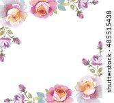 Wildflower Rose Flower Frame I...