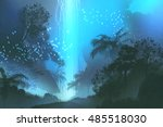 Night Scenery Showing Blue...
