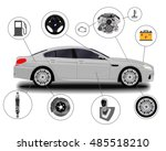 car system. spare parts.... | Shutterstock .eps vector #485518210