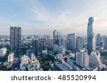 cityscape bangkok modern office ... | Shutterstock . vector #485520994
