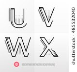 vector graphic alphabet in a... | Shutterstock .eps vector #485532040
