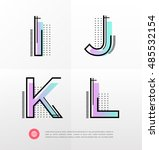 vector graphic alphabet in a... | Shutterstock .eps vector #485532154