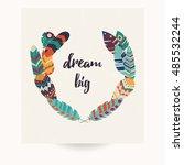postcard design with... | Shutterstock .eps vector #485532244