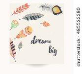 postcard design with... | Shutterstock .eps vector #485532280