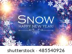 merry christmas background with ... | Shutterstock .eps vector #485540926