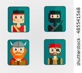 vector illustration icon avatar ... | Shutterstock .eps vector #485541568