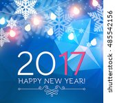 elegant new 2017 year... | Shutterstock .eps vector #485542156