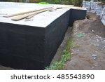 waterproofing foundation... | Shutterstock . vector #485543890