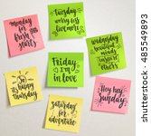 week days motivation quotes.... | Shutterstock .eps vector #485549893