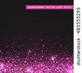 transparent vector light effect ... | Shutterstock .eps vector #485555293