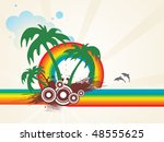 summer holiday vector | Shutterstock .eps vector #48555625