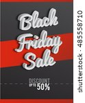 poster black friday. black and... | Shutterstock .eps vector #485558710