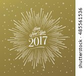 happy new year card with... | Shutterstock .eps vector #485561536
