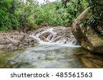 namtok phraiwan waterfall  this ... | Shutterstock . vector #485561563