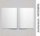 open magazine double page... | Shutterstock .eps vector #485568856