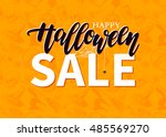 Halloween Sale Vector Banner...