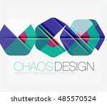 abstract background with round... | Shutterstock .eps vector #485570524