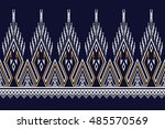 geometric ethnic pattern design ...   Shutterstock .eps vector #485570569