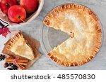 apple autumn pie  overhead...   Shutterstock . vector #485570830