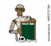today menu   mummy version | Shutterstock .eps vector #485571784