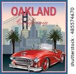 oakland california retro...   Shutterstock .eps vector #485574670