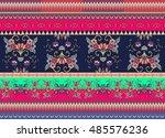 festive striped ornamental...   Shutterstock .eps vector #485576236
