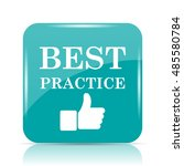 best practice icon. internet... | Shutterstock . vector #485580784