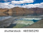 spectacular pangong lake with... | Shutterstock . vector #485585290