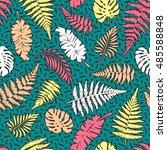 bright vector seamless pattern... | Shutterstock .eps vector #485588848