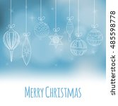 christmas and new year... | Shutterstock .eps vector #485598778