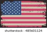 grunge usa flag.vintage... | Shutterstock .eps vector #485601124