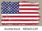 grunge usa flag.vintage... | Shutterstock .eps vector #485601139
