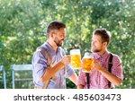 men in traditional bavarian... | Shutterstock . vector #485603473