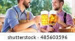 men in traditional bavarian... | Shutterstock . vector #485603596