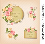 Vintage Pink  Yellow Roses And...
