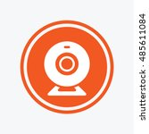 webcam sign icon. web video... | Shutterstock .eps vector #485611084