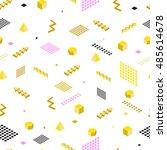 abstract seamless pattern.... | Shutterstock .eps vector #485614678