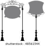 wrought iron signage | Shutterstock .eps vector #48561544