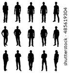 set of trendy people... | Shutterstock .eps vector #485619304