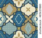 seamless retro ornamental... | Shutterstock .eps vector #485619880