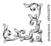 vintage baroque element... | Shutterstock .eps vector #485623078