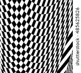 checkered pattern with warp ... | Shutterstock . vector #485625826