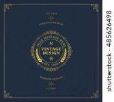 vector calligraphic logo... | Shutterstock .eps vector #485626498