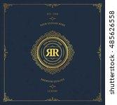 vector calligraphic logo... | Shutterstock .eps vector #485626558