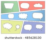 colorful comic book speech... | Shutterstock .eps vector #485628130