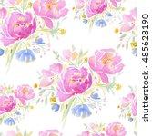 watercolor seamless pattern... | Shutterstock . vector #485628190