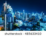 buildings of the city of... | Shutterstock . vector #485633410