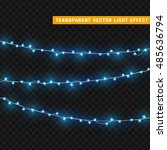 christmas lights isolated... | Shutterstock .eps vector #485636794