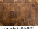 oak wooden butcher chopping... | Shutterstock . vector #485648020